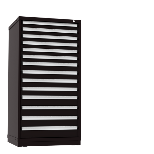 Borroughs Modular Drawer Cabinet Eye Level Height, 14 Drawer 300 Compartments, Black