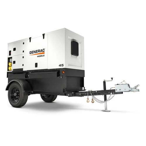 Generac MMG45IF4-STD Towable/Backup Generator, 33000/40000 Watts, Diesel, Electric Start, 1-Ph/3-Ph