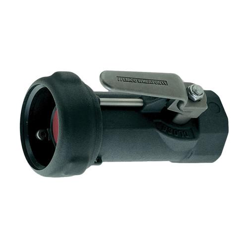 Emco Wheaton J79 Series 1 1/2 in. Female NPT Aluminum Dry Break Straight Coupler w/ Viton Seal & 90° Lever