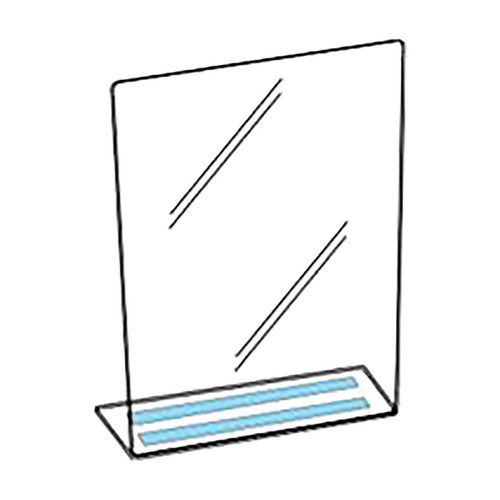 Polyguard Counter Barrier Shield, 36 in. W x 24 in. H w/ 8 in. Flange, 1/8 in. Thick, Food Grade Polycarbonate