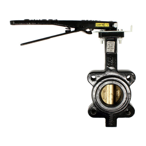 Apollo LC141 Series 2 1/2 in. 150# Flange Ductile Iron Butterfly Valve, Lug Style, 10 Pos. Handle