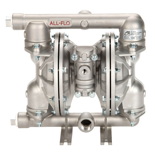 All-Flo A Series 1 in. NPT Aluminum Air Diaphragm Pumps, 48 GPM w/PTFE Diaphragm, O-Ring, Valve & Ball, Nylon Seat