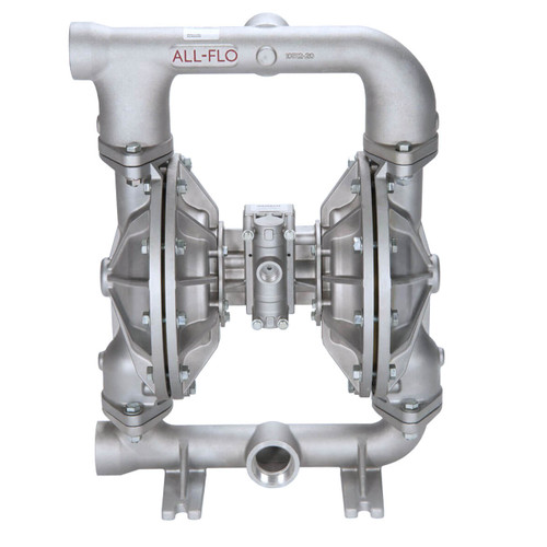All-Flo A Series 2 in. NPT Aluminum Air Diaphragm Pumps, 190 GPM w/PTFE Diaphragm, O-Ring, Valve & Ball, Nylon Seat
