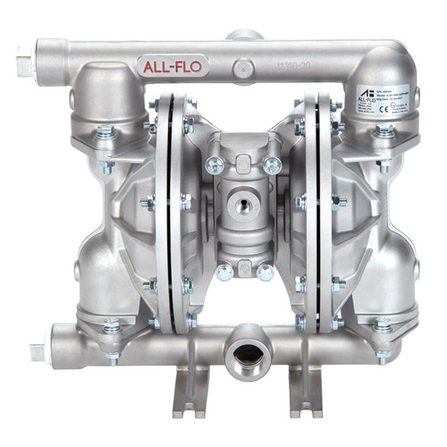 All-Flo A Series 1 in. NPT Aluminum Air Diaphragm Pumps, 48 GPM w/Santoprene Diaphragm, Valve & Ball, EPDM O-Ring, Polyp Seat