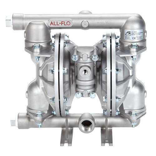 All-Flo A Series 1 in. NPT Stainless Steel Air Diaphragm Pumps, 48 GPM w/Santoprene Diaphragm, Valve & Ball, EPDM O-Ring, Stainless Steel Seat