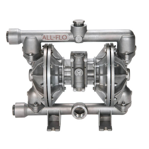 All-Flo A Series 1 1/2 in. NPT Stainless Steel Air Diaphragm Pumps, 115 GPM w/Santoprene Diaphragm, Valve & Ball, EPDM O-Ring, Stainless Steel Seat