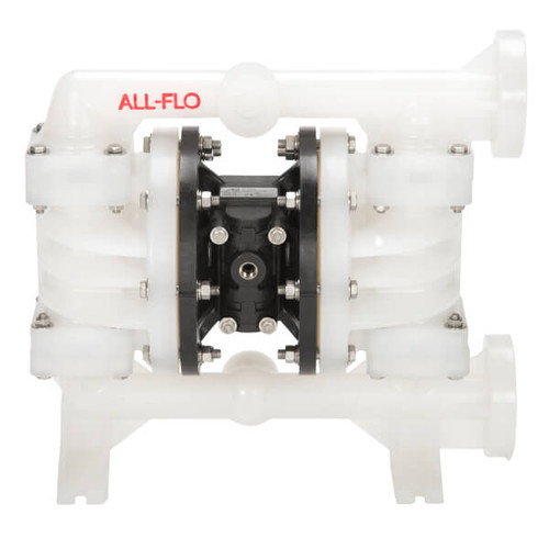 All-Flo C Series 1 1/2 in. Flange Poly Air Diaphragm Pumps, 130 GPM w/Santoprene Diaphragm, Valve & Ball, EPDM O-Ring, Polypropylene Seat