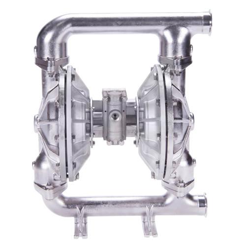 All-Flo F Series 2 in. Tri-Clamp All-Pur FDA Pumps, 190 GPM w/Hytrol Diaphragm, Buna-N Valve, Ball & O-Ring, SS Seats