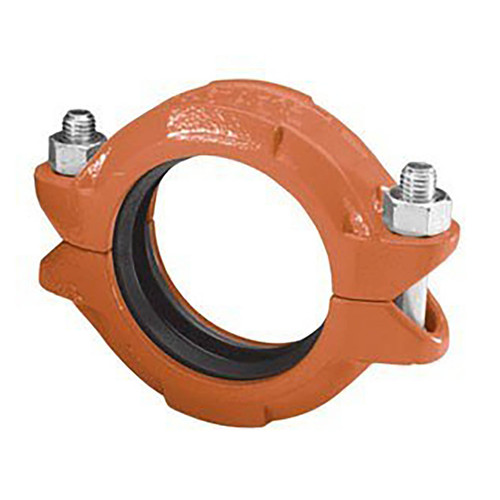 Anvil FIG 7001 Gruvlok® Flexible Coupling w/EPDM C Style Gasket, Ductile Iron Ptd. Orange