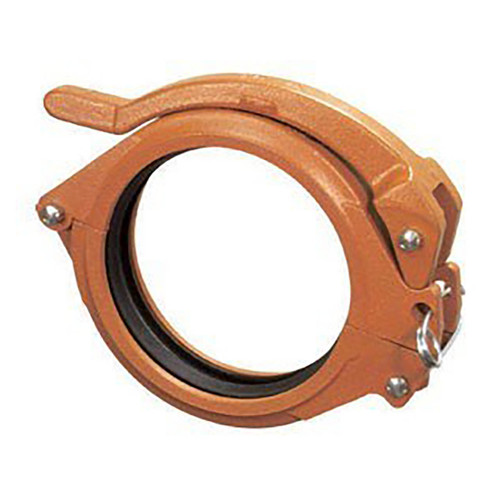 Anvil FIG 7003 HingeLok® Coupling w/ EPDM C Style Gasket, Ductile Iron Ptd. Orange