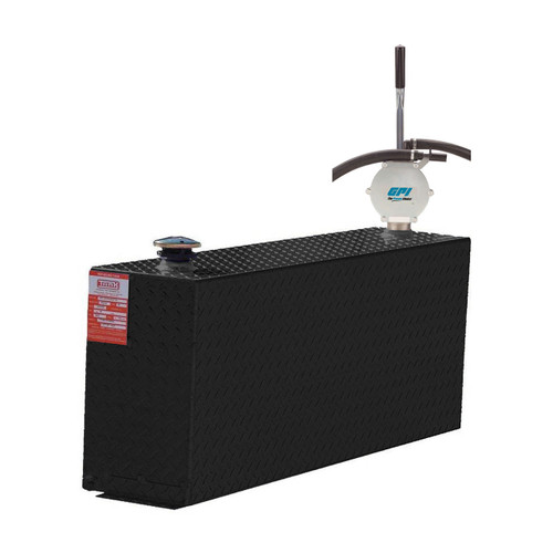 38 Gallon DOT Powder Coated Aluminum Rectangular Transfer Tank w/ GPI HP90 Pump