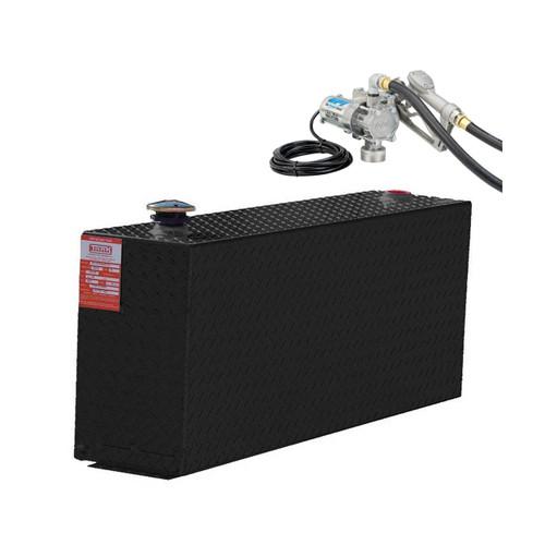 38 Gallon DOT Powder Coated Aluminum Rectangular Transfer Tank w/ GPI 8 GPM Pump