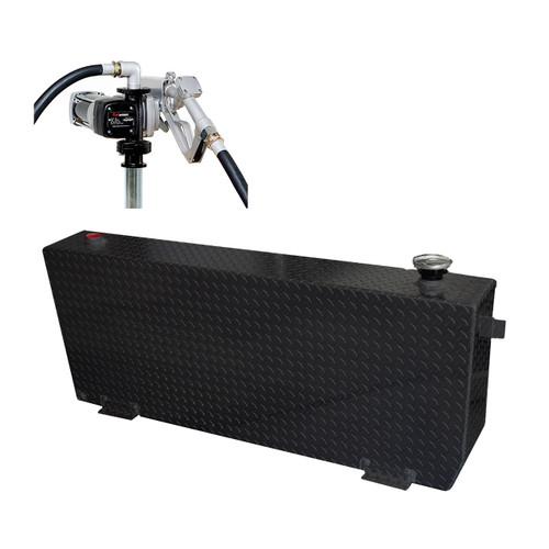 51 Gallon DOT Powder Coated Aluminum Rectangular Transfer Tank w/ Fuelworks 12V DC Pump