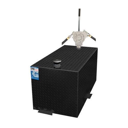 110 Gallon DOT Powder Coated Aluminum Rectangular Transfer Tank w/ GPI HP100 Pump