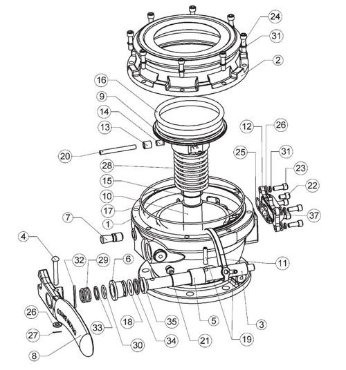dixon 5204 series api bottom loading adapter replacement