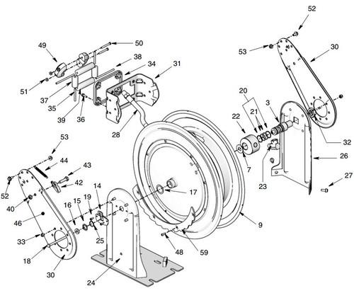 graco xd 30 size 30 hose reel swivel kit  2 u0026quot  hose id