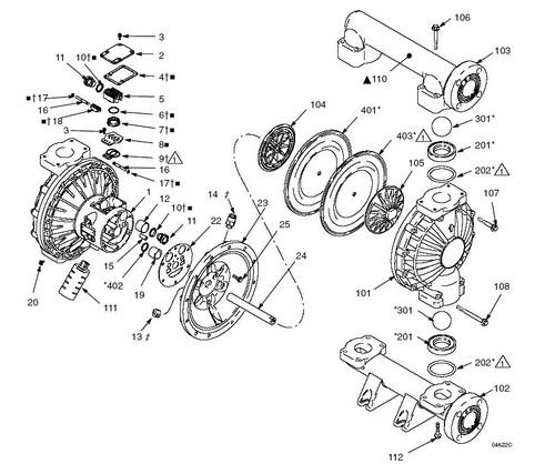 graco husky 1590 diaphragm pump fluid kit w   316 stainless