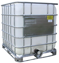 Schutz IBC Tank - 330 Gallon Capacity - Reconditioned IBC & New Bottle