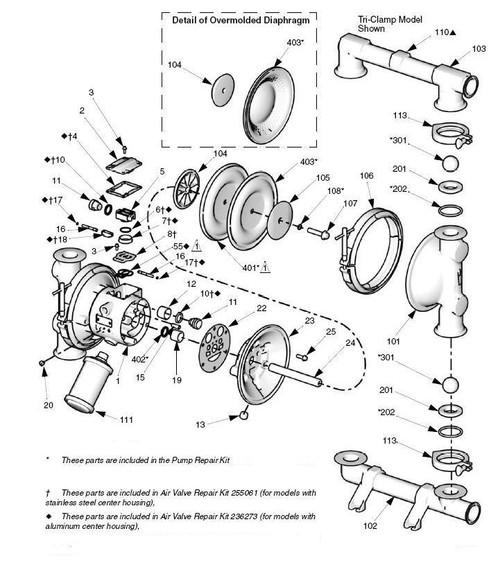 graco saniforce 1590 fda pump fluid kit w   polychloroprene