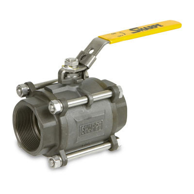 1//4 T-SS-1001N 1000 WOG Full Port 2 Piece Stainless Steel Ball Valve Threaded Connection 100-961 Jomar