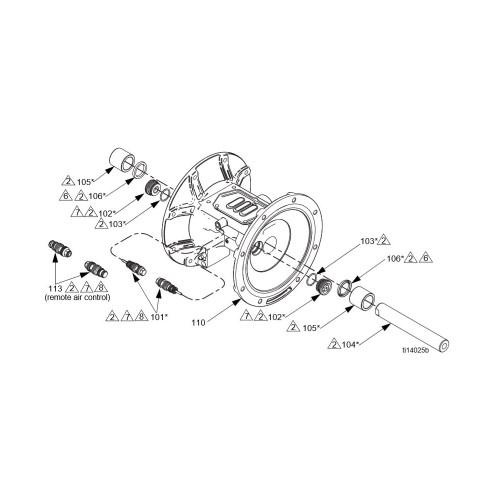 graco tpe diaphragm kit for husky 1050 aluminum metal pumps