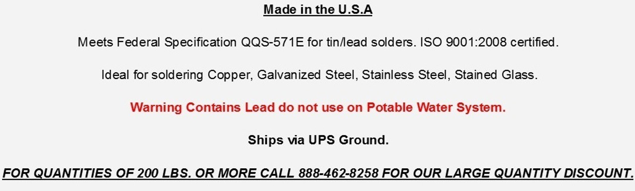 "Wire Solder 50/50 1 lb Spool 1/8"" .125 Dia. Free Shipping"