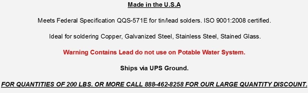 "Tri-Bar Solder 50/50 1/4"" Free Shipping"
