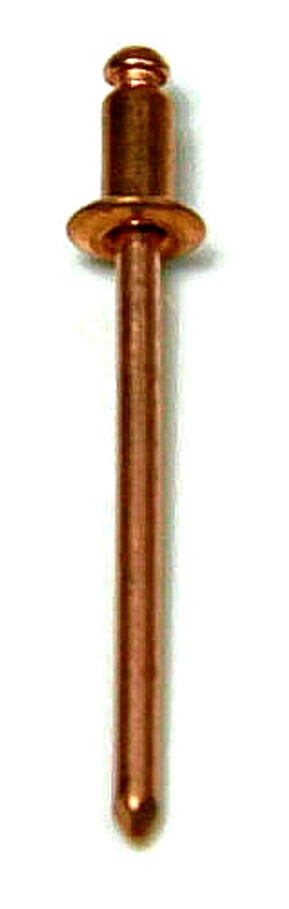 "COPPER RIVET COPPER PLATED STEEL MANDREL BLIND BUTTON HEAD 50 #42 1/8"""