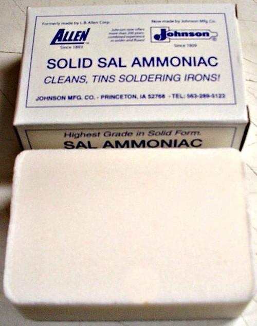 SAL AMMONIAC TINNING BLOCK. 1/2 Lb. 8 OZ BAR