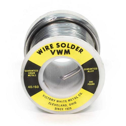 """40-60, Wire, Solder, 1 lb, Spool, 1/8"""", .125 Dia"""