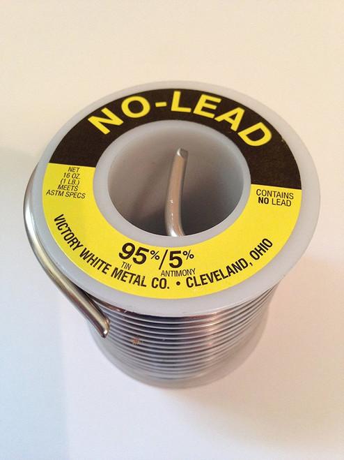 """Lead-Free Wire Solder 95/5 1 lb Spool 1/8"""" .125 Dia."""