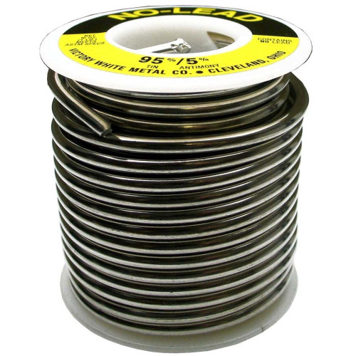 "Lead Free Wire Solder 95/5 1 lb Spool 1/8"" .125 Dia. Free Shipping"