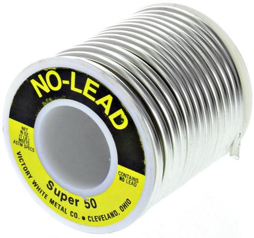 """Super 50 Lead-Free Wire Solder 1 lb Spool 1/8"""" .125 Dia."""