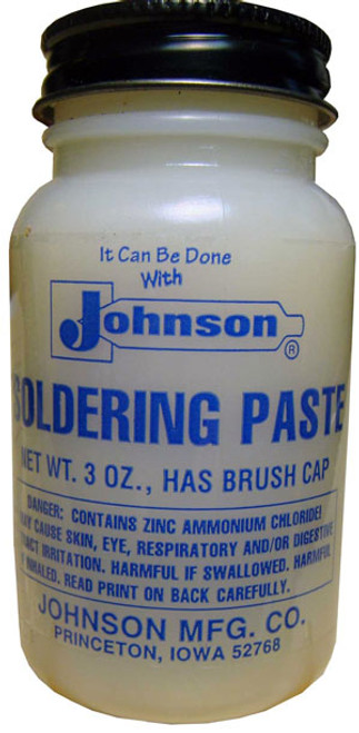 JOHNSON'S SOLDERING PASTE 3 oz. BOTTLE