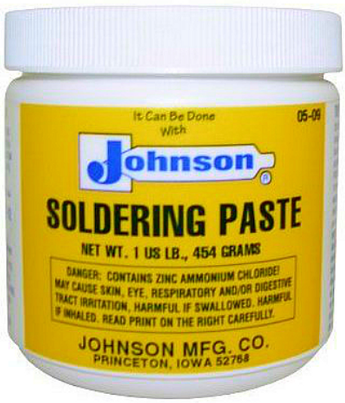 JOHNSON'S SOLDERING PASTE 1 LB. JAR