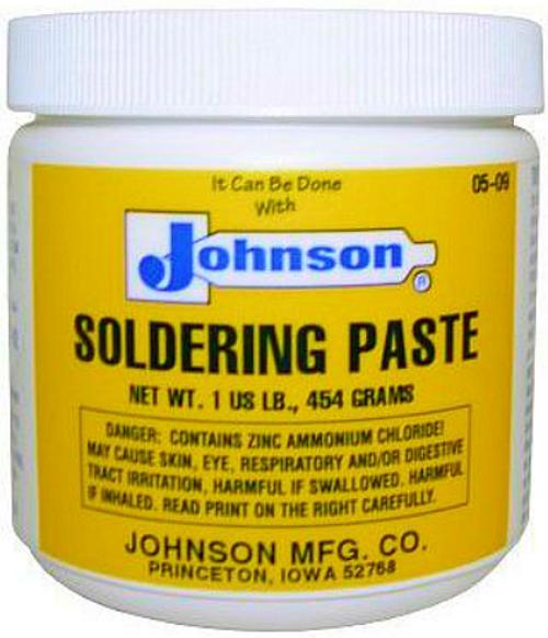 JOHNSON'S SOLDERING PASTE 1 LB. JAR