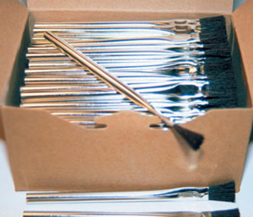 HORSEHAIR TIN HANDLE ACID BRUSHES, SWABS #2 1/2""