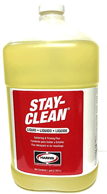 STAY-CLEAN LIQUID SOLDERING FLUX 1 GALLON JUG SCLF1G