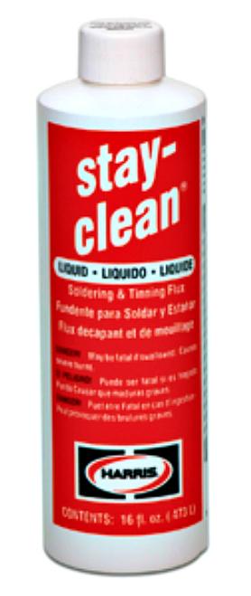 STAY-CLEAN, LIQUID, SOLDERING, FLUX, 1, PINT, BOTTLE, 16, OZ, SCLF16, ALASSCOONLINESTORE.COM