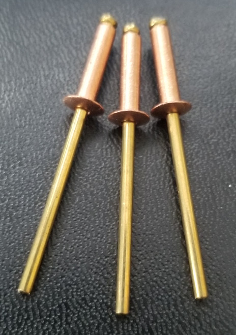 COPPER-RIVET-BRASS-MANDREL-OPEN END-BLIND-BUTTON-HEAD-#46
