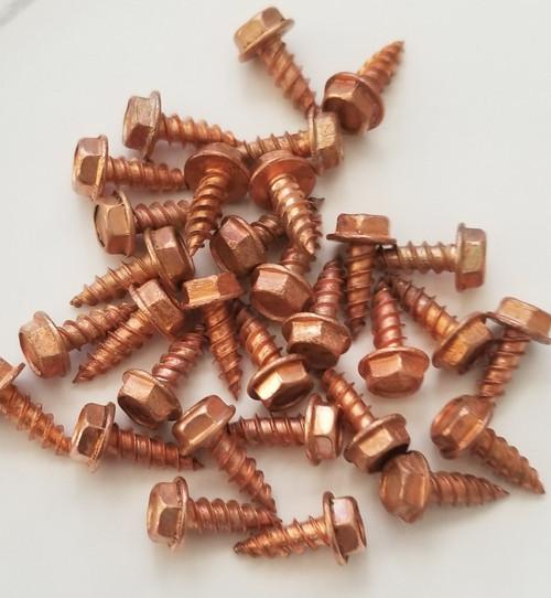 Solid, Copper, Zip, Screw, 8x1/2