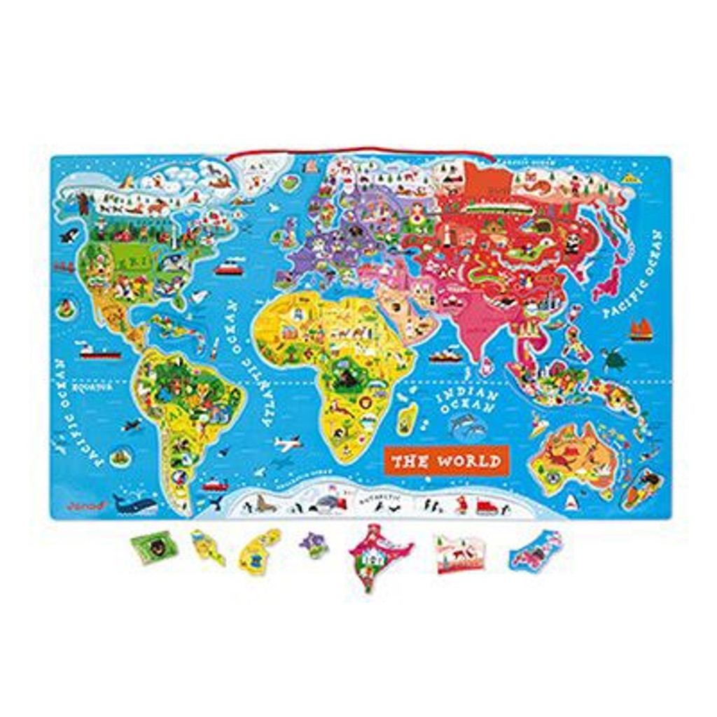 Magnetic World Puzzle Map