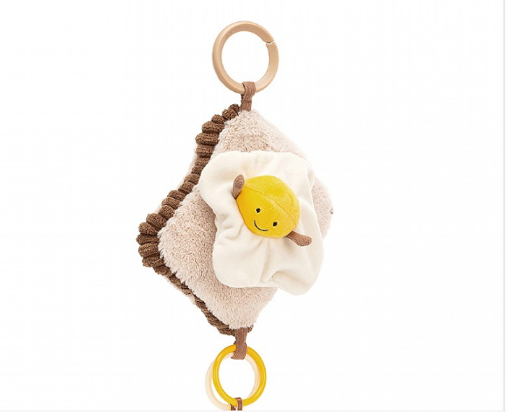 jellycat-Amuseable Egg On Toast Activity Toy (H7''*W5'')