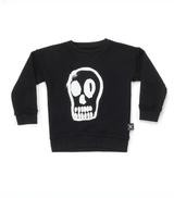 dizzy skull sweatshirt/ BLACK