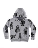 nununu all over tribal dancers zip hoodie