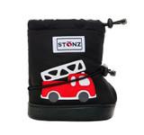 Stonz Booties Fire Truck Black Plusfoam