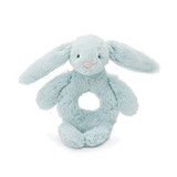 Jelly cat Bashful Beau Bunny Ring Rattle