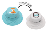 FlapJackKids Reversible Baby and Kids Sun Hat - Fox | Hedgehog