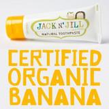 JACK N JILL Natural toothpaste organic banana