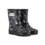 Stonz Rain Boots Print Black